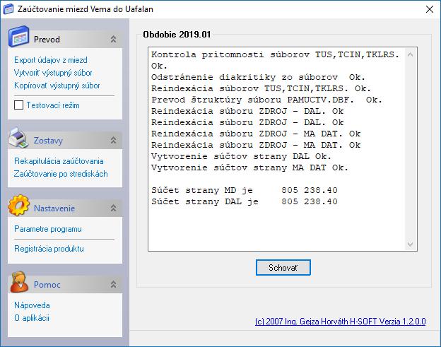Užívateľské rozhranie konverzného modulu pre vytvorenie vstupného súboru do UAFALAN.